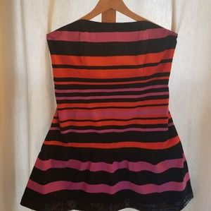 Baby Phat Black Striped Party Dress